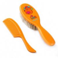 BabyOno щётка с натуральным мягким волосом + гребень