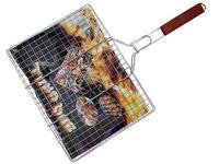 купить Решетка для гриля BBQ 29X39cm, с деревянной ручкой  в Кишинёве