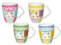 "Чашка конус ""Кружева и цветы"" 330ml"
