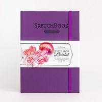 Скетчбук Малевичъ для графики и маркеров Bristol Touch, фиолетовый, 180 гм, А5 см, 50л