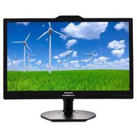 "Philips 221S6QYKMB, 21.5"" IPS 1920x1080 VGA DVI Speakers PIVOT Camera"