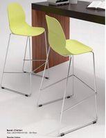 купить Барный стул из пластика, хромированные стальные опоры 495x540x1120 мм, черный в Кишинёве