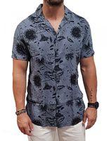 Рубашка JACK&JONES Синий с принтом 12154854