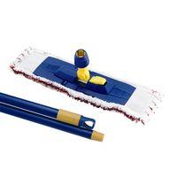 Держатель (флаундер) с плоским мопом микрофибра 45х13 см (карман) + рукоятка