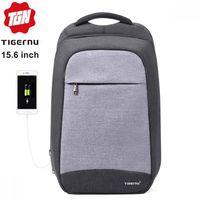 """Рюкзак Антивор Tigernu T-B3335 для ноутбука 15.6"""", с USB портом, водонепроницаемый, серый"""
