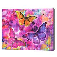 Разноцветные бабочки, 40x50 см, aлмазная мозаика