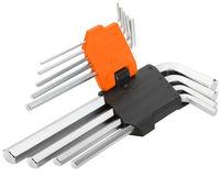 Ключи шестигранные 1.5-10mm набор 9 шт Wokin