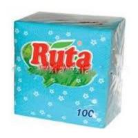Ruta салфетки бумажные голубые, 100 шт.
