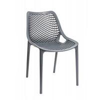 Стул пластиковый со спины и сиденья перфорированные, серый