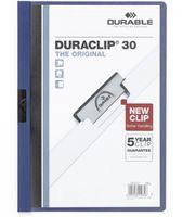 Durable Папка с клипом DURACLIP 30 A4 пластиковая т. синяя