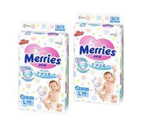 Подгузники Merries L (9-14 kg) 108 шт