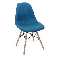 cumpără Scaun tapiţat cu picioare de lemn cu suport metalic, 550x480x470x830 mm, albastru în Chișinău