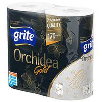 Бумага гигиеническая GRITE Orhideea Gold 3 сл 1/4