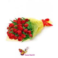 купить Монобукет из 25 Красных тюльпанов в Кишинёве