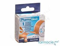 "Emplastru banda 2,5cm x5m ""Pharma Doct"" textil (120016)"