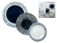 купить Набор тарелок New Acqua 18ед, серый в Кишинёве