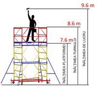 cumpără Turn modular mobil ВСР (0,7x2,0) 1+6 în Chișinău
