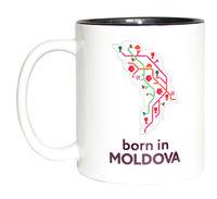 купить Кружка в черном оформлении – born in Moldova в Кишинёве