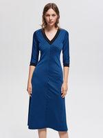 Платье RESERVED Синий в полоску vf756-57x