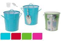 купить Ведро для льда с лопаткой D16cm, H21cm, металл, цветное в Кишинёве