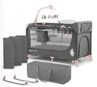 Кроватка-манеж с аксессуарами KinderKraft Joy розовый