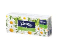 Batiste nazale cu aromă de muşeţel Kleenex, 10 buc. set