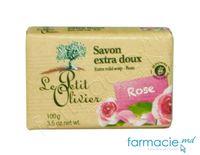 Le Petit Olivier Sapun extra fin cu Trandafir 100g