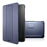 Lenovo A8-50 (A5500) Folio Case and Film (Dark Blue)