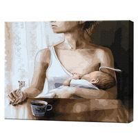 Taina maternității, 40х50 cm, pictură pe numere Articol: GX37580