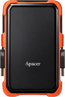 "2.0TB (USB3.1) 2.5"" Apacer AC630 Military-Grade Shockproof Hard Drive, Black-Orange (AP2TBAC630T-1)"