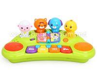 Huile Toys 2103A Пианино животные с муз и светом