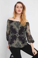 Блуза ORSAY Черный с принтом 663572 orsay