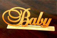 """Слово """"Baby"""" на подставке"""