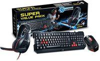 купить (31280230102) Genius KMH-200 Desktop, Gaming Keyboard (104 buttons, spill resistant, USB)+ Gaming Mouse (3 buttons, optical, 1000dpi, USB)+ Gaming Headset (40mm driver units, 20Hz - 20KHz, 3.5mm jack), Black в Кишинёве