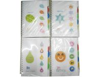 cumpără Blocnotes cu indexuri in coperta dura cu spira B5, 120f în Chișinău