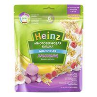 Heinz Лакомая каша многозерновая молочная банан, малина, 6 мес.170 г