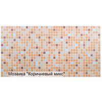 Влагостойкая панель мозаика коричневый микс