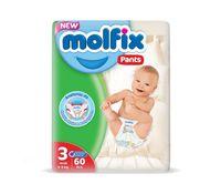 Подгузники-трусики Molfix 3 (6-11 kg) 60 шт