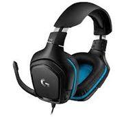 Игровая гарнитура Logitech G432, драйвер 50 мм, 20-20000 Гц, 39 Ом, 107 дБ, 280 г, 3,5 мм / USB, черный / синий