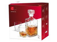 Набор штоф 1l и 6 стаканов для виски Selecta