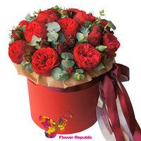 купить Цветы в шляпных коробках «Фрида» в Кишинёве