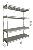 купить Стеллаж оцинкованный металлический  Gama Box  1195Wx305Dx1830H мм. 4 полки/МРВ в Кишинёве