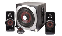 """F&D A511 (Black, 2x16W RMS(3""""), 20W subwoofer(6,5""""), 65-20kHz, 65dB, Bass, Wooden-Subwoofer) Cable Romote Control"""