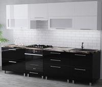 Bucătărie Bafimob Blum (High Gloss) 2.8m White/Black