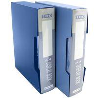 Pomaylor Папка с файлами POMAYLOR А4/100 в футляре синяя