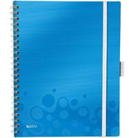 Leitz Тетрадь LEITZ Mobile A4/80л/3 PP пружина, клетка, синяя