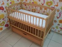 Dubok Elit with Drawer Natural Wood