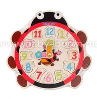 """Baby Mix  TP-52096 Деревянные часы """"Божья коровка"""""""