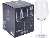 """Набор бокалов для красного вина """"Agio Gold-cut"""" 4шт, 480ml"""