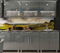 Кухонный гарнитур Bafimob Modern (High Gloss) 2.4m glass Grey